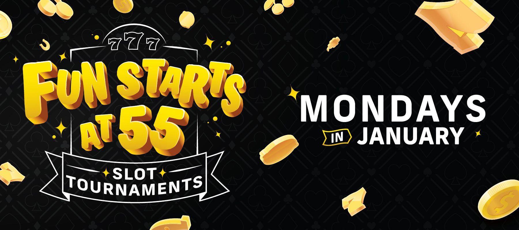Fun Starts at 55 Slot Tournaments