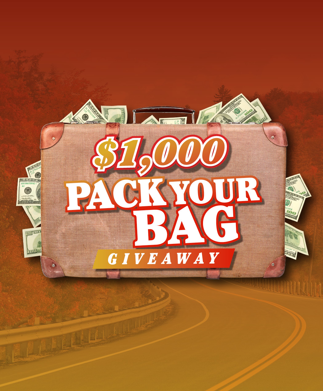 $1,000 Pack Your Bag Giveaway