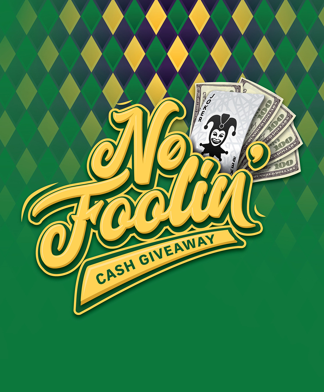 No Foolin' Cash Giveaway